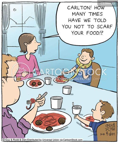 Eating Table Cartoon: Dinner Tables Cartoons And Comics