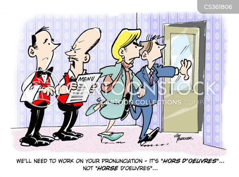 Hors cartoons and comics funny pictures from cartoonstock for Canape pronunciation