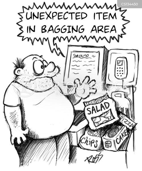 Cashier Cartoons: Self Checkout Cartoons And Comics