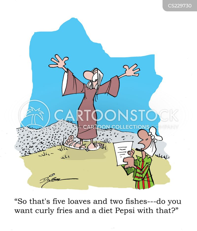Loaves and fishes cartoons and comics funny pictures for Loaves and fishes bible story