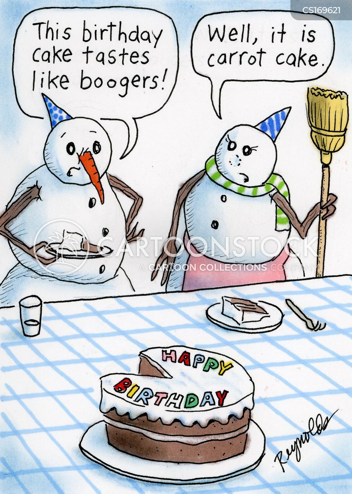 Birthday Cake Cartoon Cold
