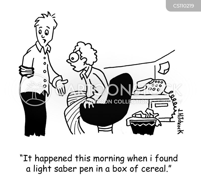 funny free down sizing cartoons and cereal