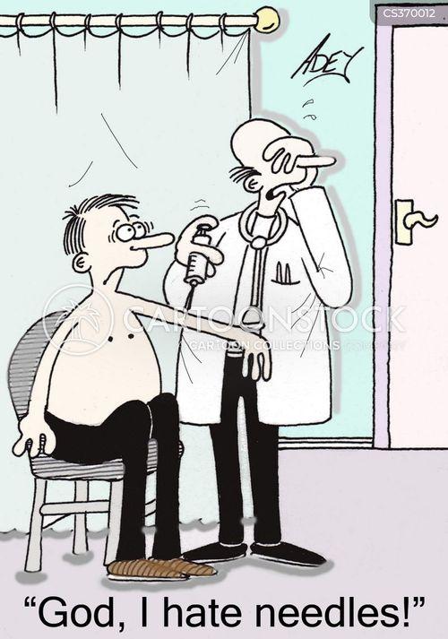 Needle Phobia cartoons, Needle Phobia cartoon, funny, Needle Phobia ...