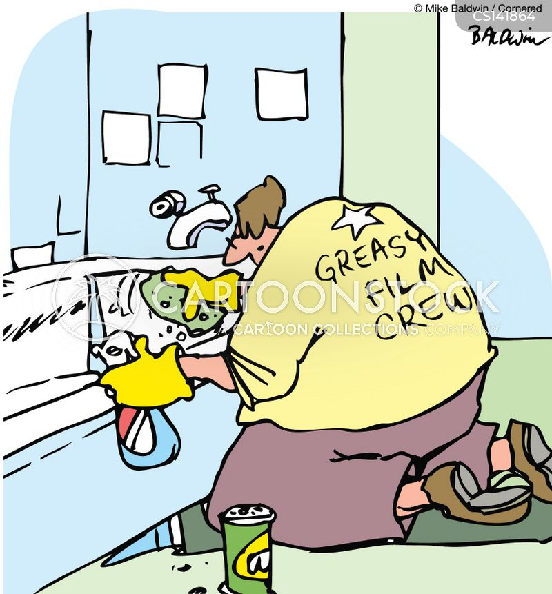 Bathroom Cleaners Cartoons and Comics - funny pictures ...