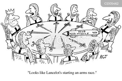 King Arthurs Round Table Cartoons And Comics