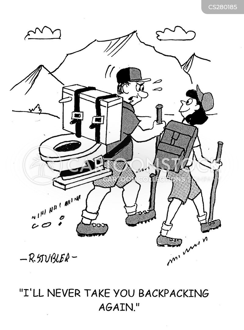 Backpacking Cartoon, Backpacking Cartoons, Backpacking Bild, Backpacking Bilder, Backpacking Karikatur, Backpacking Karikaturen, Backpacking Illustration, Backpacking Illustrationen, Backpacking Witzzeichnung, Backpacking Witzzeichnungen