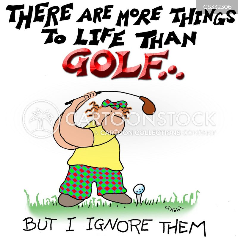 how to draw a funny cartoon golfers