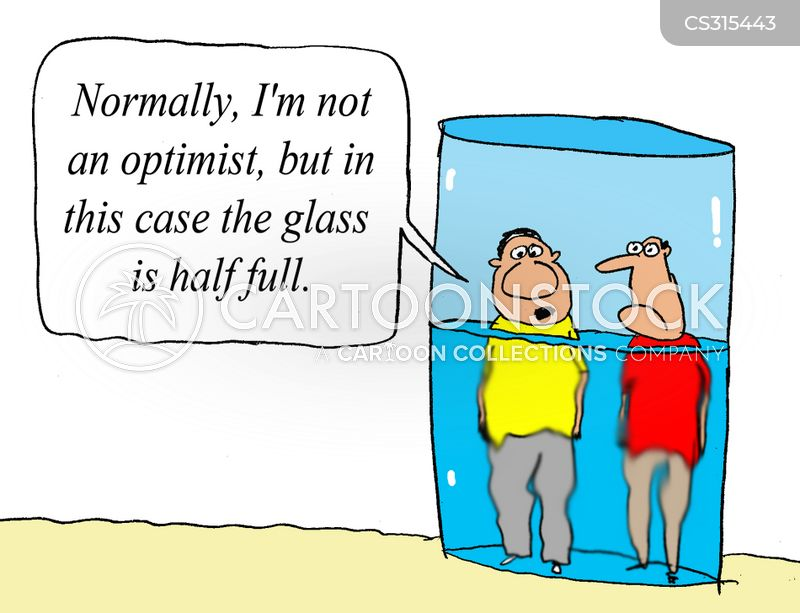 Half-full Glass Cartoons and Comics - funny pictures from CartoonStock