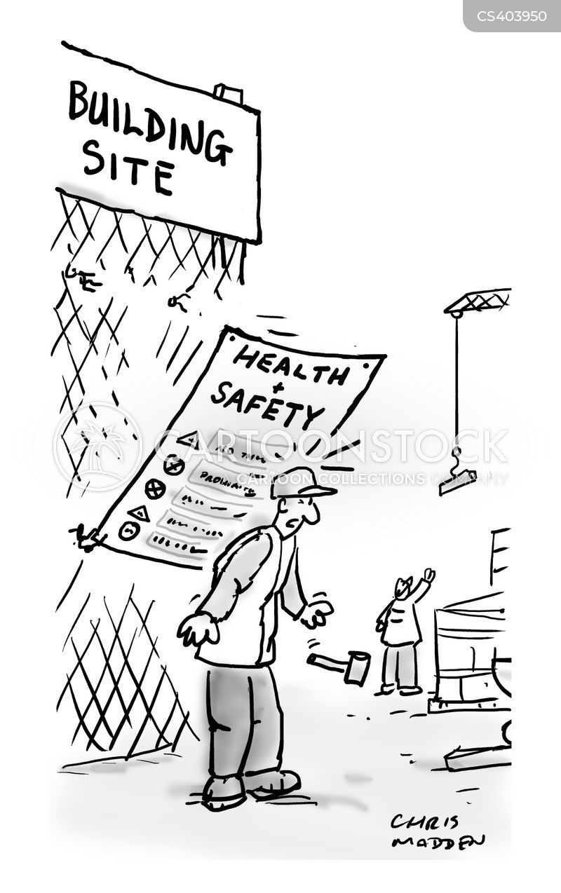 Building Construction Cartoon : Safety signs cartoons and comics funny pictures from