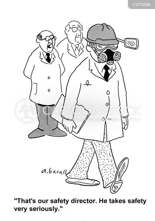 Editorial Cartoon - Gas Mask  |Funny Cartoon Gas Mask