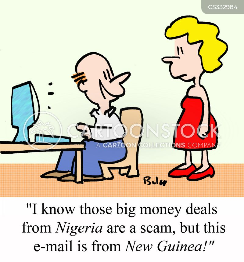 Email Scam Cartoons And Comics Funny Pictures From Cartoonstock