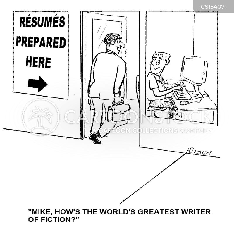 resume services cartoons and comics