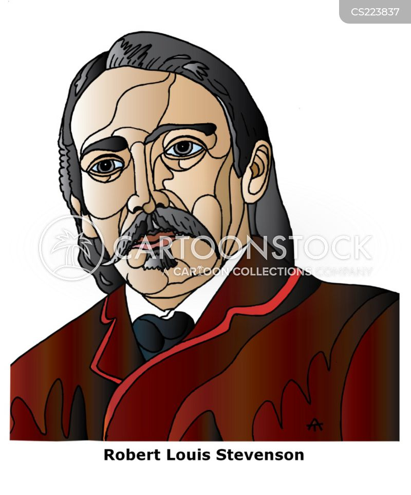 Robert Louis Stevenson Cartoon, Robert Louis Stevenson Cartoons, Robert Louis Stevenson Bild, Robert Louis Stevenson Bilder, Robert Louis Stevenson Karikatur, Robert Louis Stevenson Karikaturen, Robert Louis Stevenson Illustration, Robert Louis Stevenson Illustrationen, Robert Louis Stevenson Witzzeichnung, Robert Louis Stevenson Witzzeichnungen