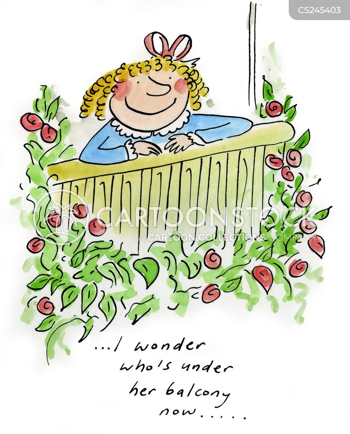 Balcony scene cartoons and comics funny pictures from for Balcony cartoon