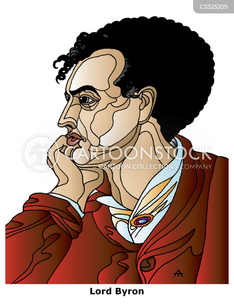 Lord Byron Cartoon, Lord Byron Cartoons, Lord Byron Bild, Lord Byron Bilder, Lord Byron Karikatur, Lord Byron Karikaturen, Lord Byron Illustration, Lord Byron Illustrationen, Lord Byron Witzzeichnung, Lord Byron Witzzeichnungen