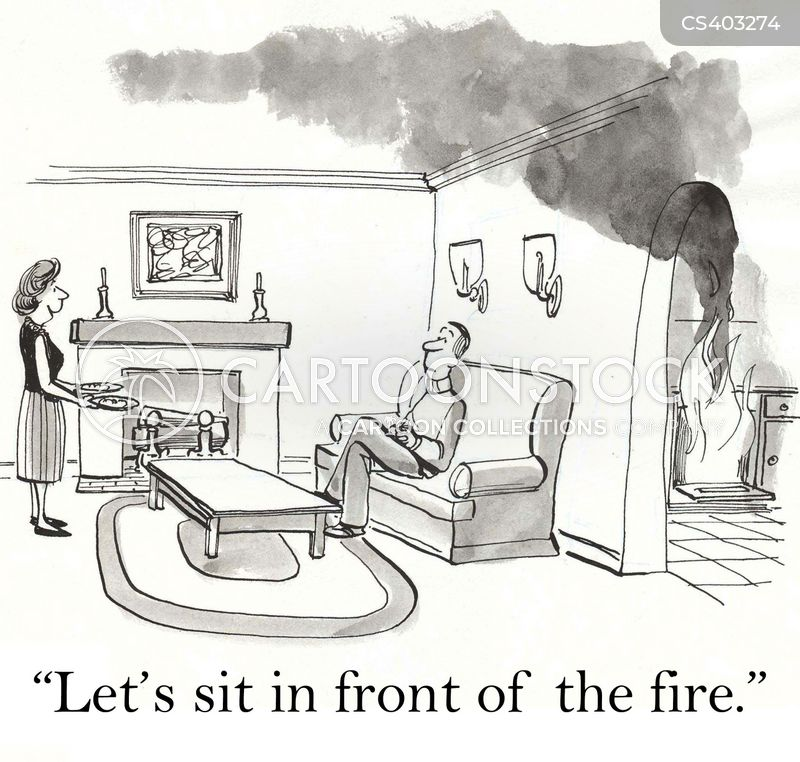 Fireplaces Cartoons And Comics Funny Pictures From