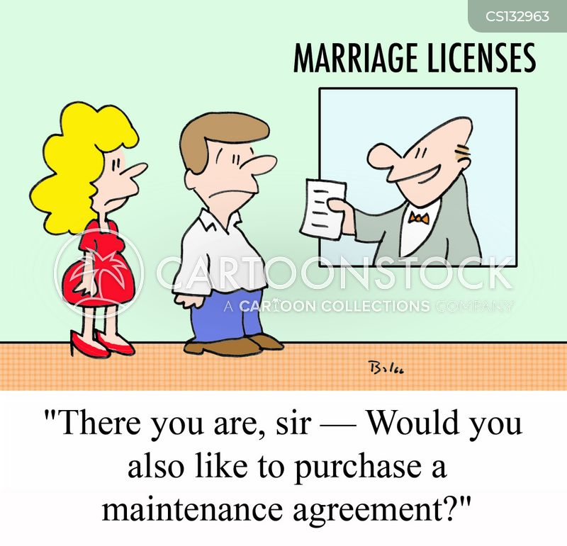 Marriage License Cartoons And Comics