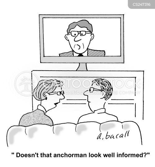 News Show Cartoons and Comics