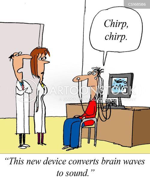 Brain Waves Animated Brain-wave Cartoon 1 of 1