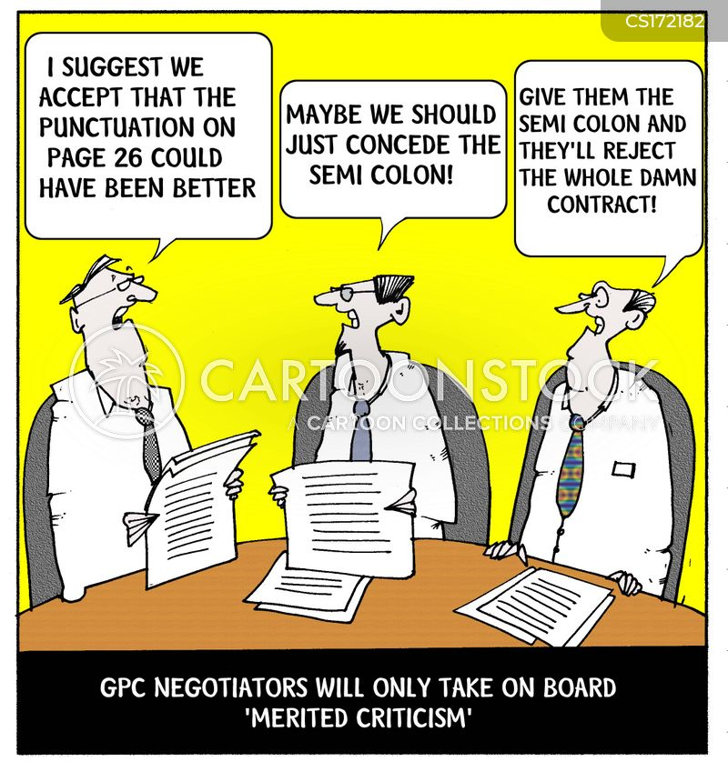 Contract Negotiations Cartoons And Comics Funny Pictures