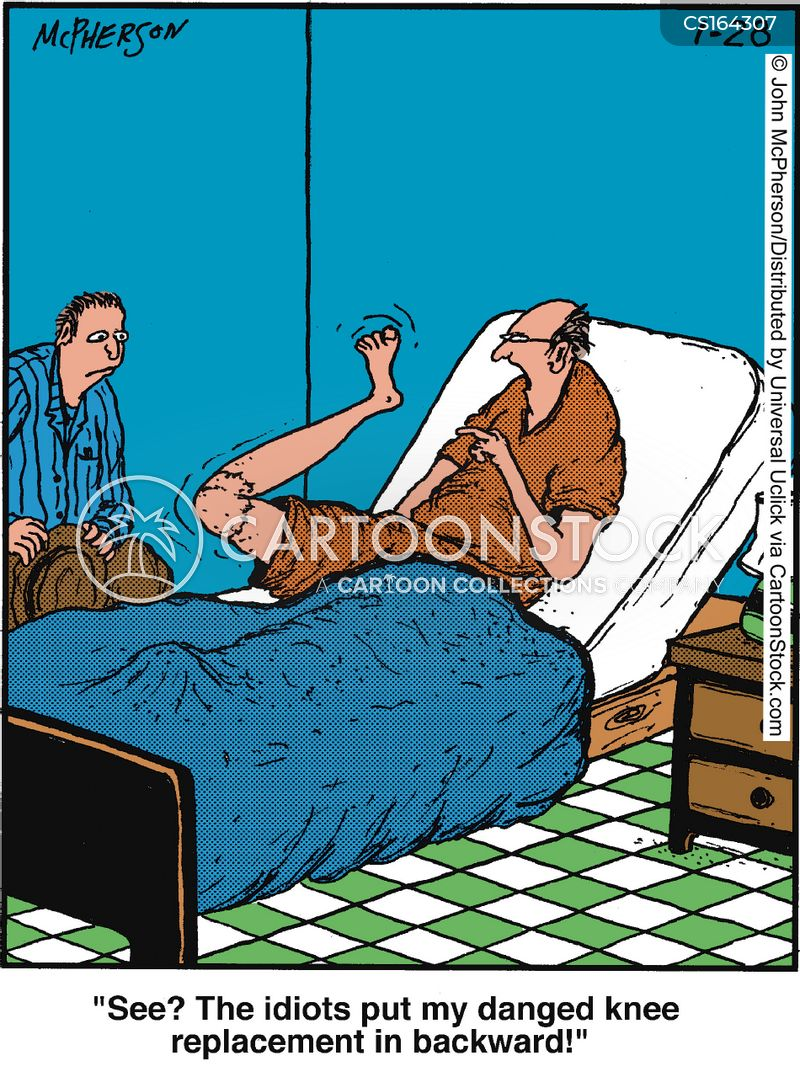 Accident on old man hurt back cartoon