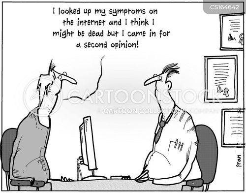 symptoms cartoons and comics