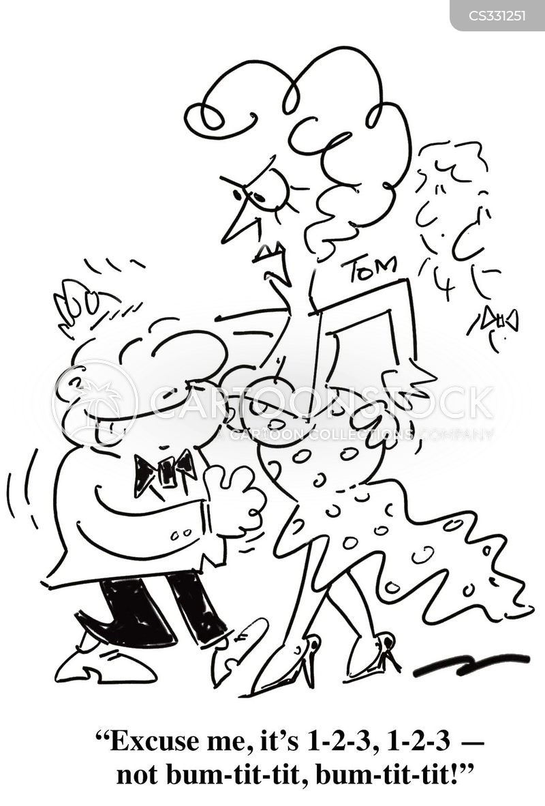 dancing steps cartoons and comics
