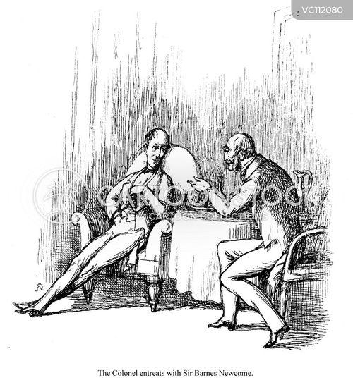 William Makepeace Thackeray Vintage And Historic Cartoons border=