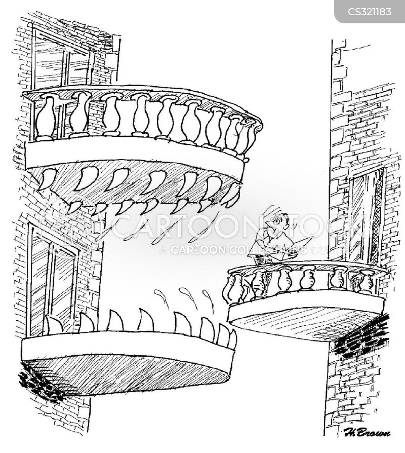 Jaw cartoons and comics funny pictures from cartoonstock for Balcony cartoon