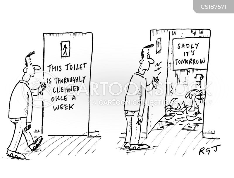 Lavatories Cartoons And Comics Funny Pictures From CartoonStock