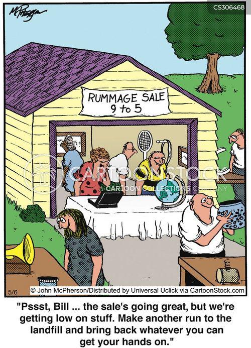 Garage door clip art - Rummage Sales Cartoons And Comics Funny Pictures From