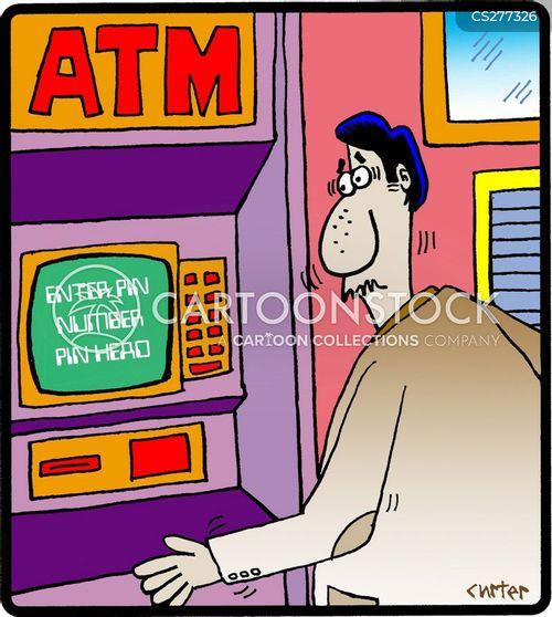 Atm Machine Cartoons And Comics