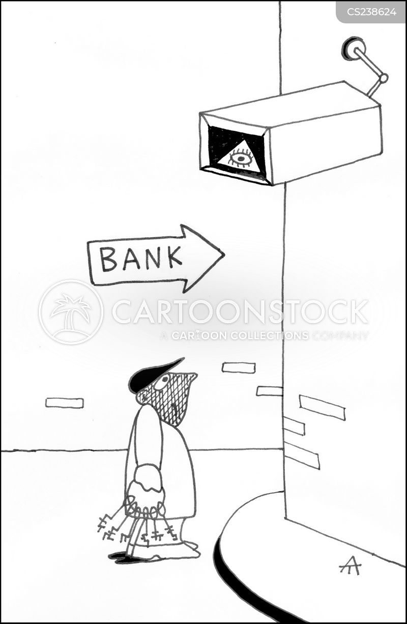Bank Protection Drawing : Cctv cameras cartoons and comics funny pictures from