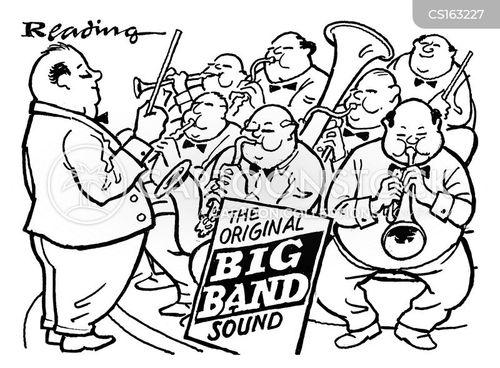 Cartoon Jazz Band Big Band Cartoon 2 of 6