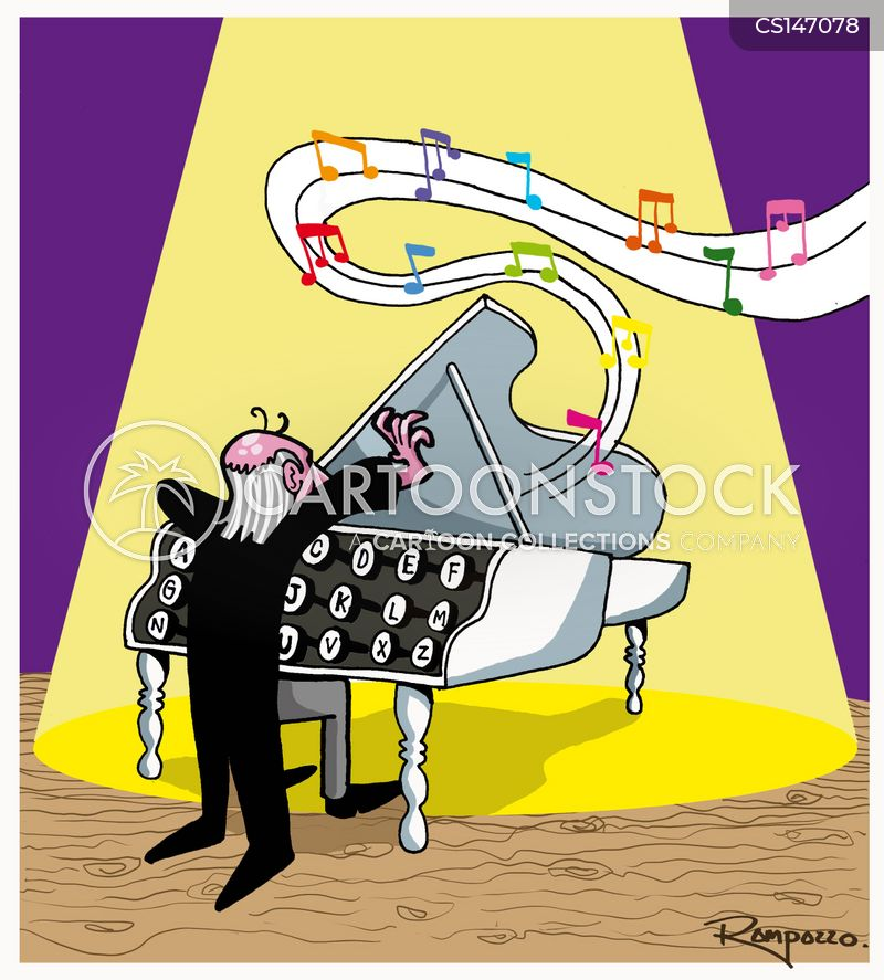 Pianist Cartoon, Pianist Cartoons, Pianist Bild, Pianist Bilder, Pianist Karikatur, Pianist Karikaturen, Pianist Illustration, Pianist Illustrationen, Pianist Witzzeichnung, Pianist Witzzeichnungen