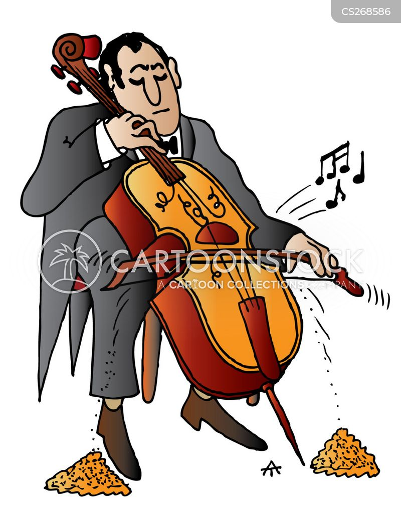 Cello Cartoon, Cello Cartoons, Cello Bild, Cello Bilder, Cello Karikatur, Cello Karikaturen, Cello Illustration, Cello Illustrationen, Cello Witzzeichnung, Cello Witzzeichnungen