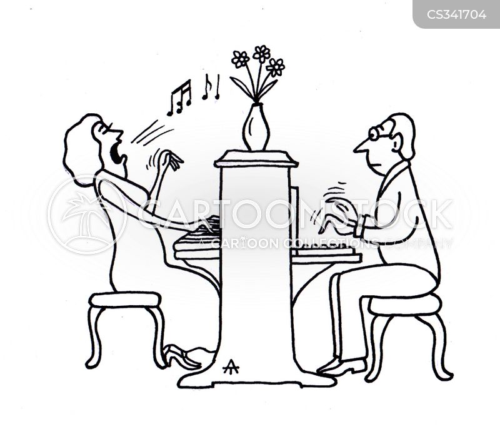 Professional Pianist cartoons, Professional Pianist cartoon, funny