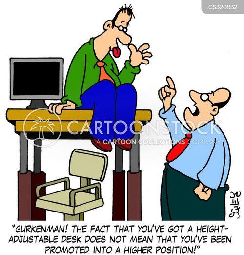 Adjustable Desks Cartoons And Comics