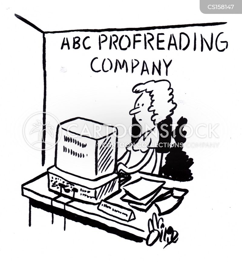 proofreading cartoons and comics