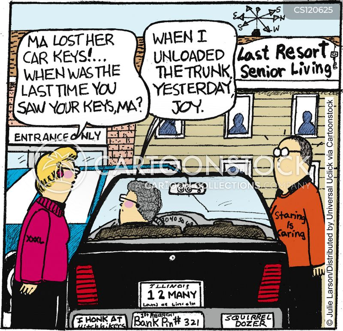 Maxine cartoons on retirement car tuning