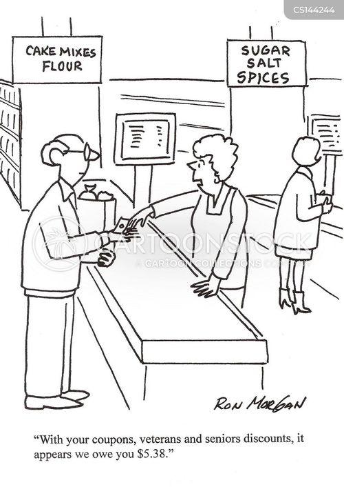 Elderly discount coupons