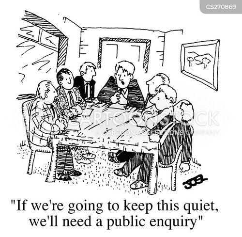 Public Enquiry Cartoons And Comics