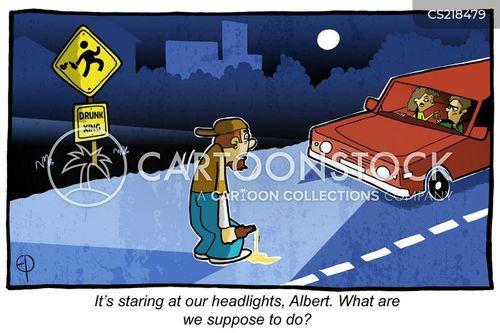 Headlights Cartoons And Comics