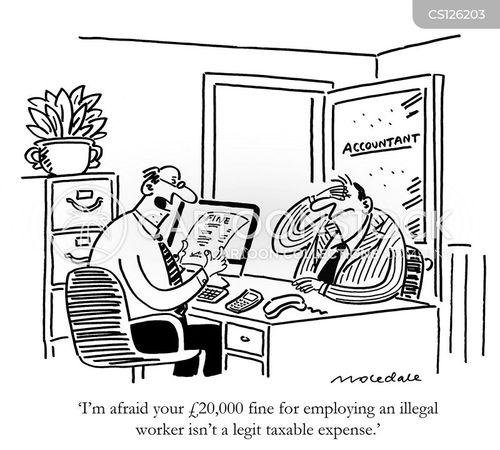 Business Taxes Cartoons And Comics