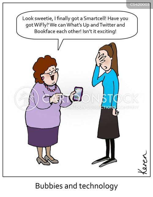 Cartoon Jewish Grandmother