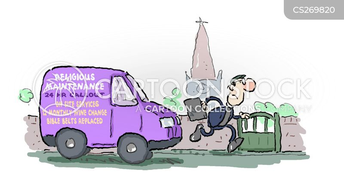 Funny Maintenance Cartoon Maintenance Service Cartoon 2