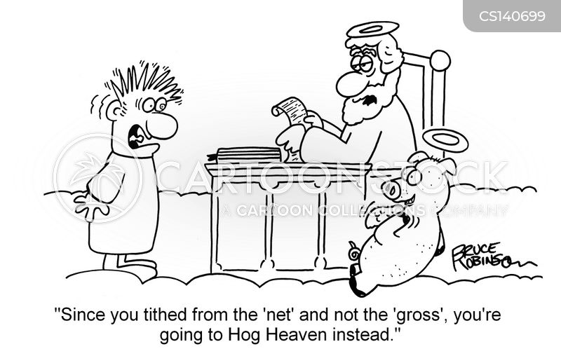 Tithing Cartoons And Comics Funny Pictures From Cartoonstock