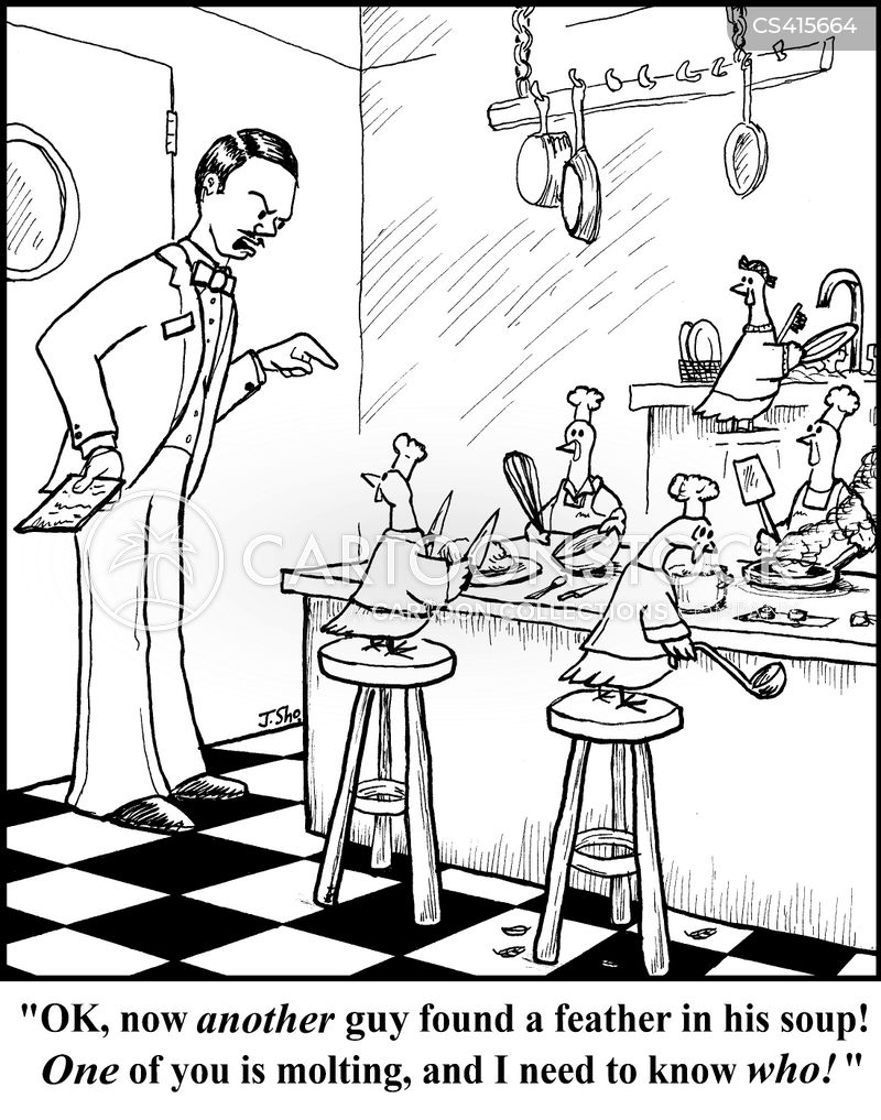 kitchen hygiene cartoon