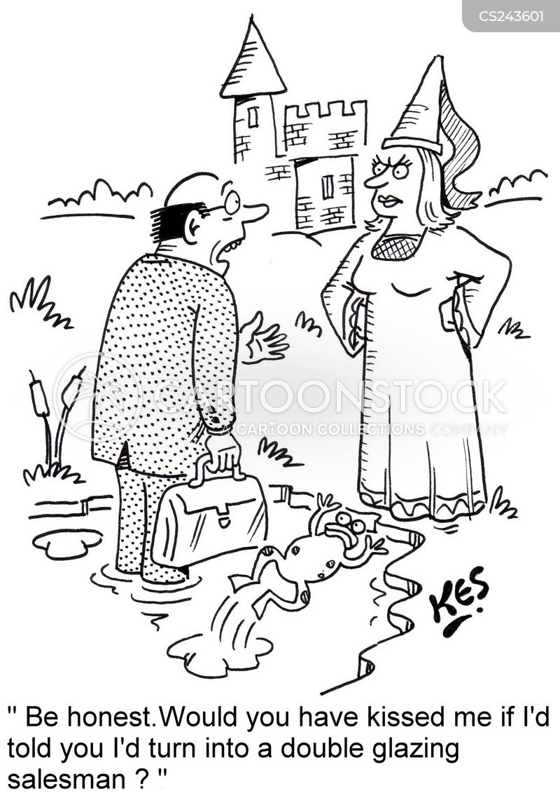 Enchanted frog cartoons and comics funny pictures from for Double glazing salesman
