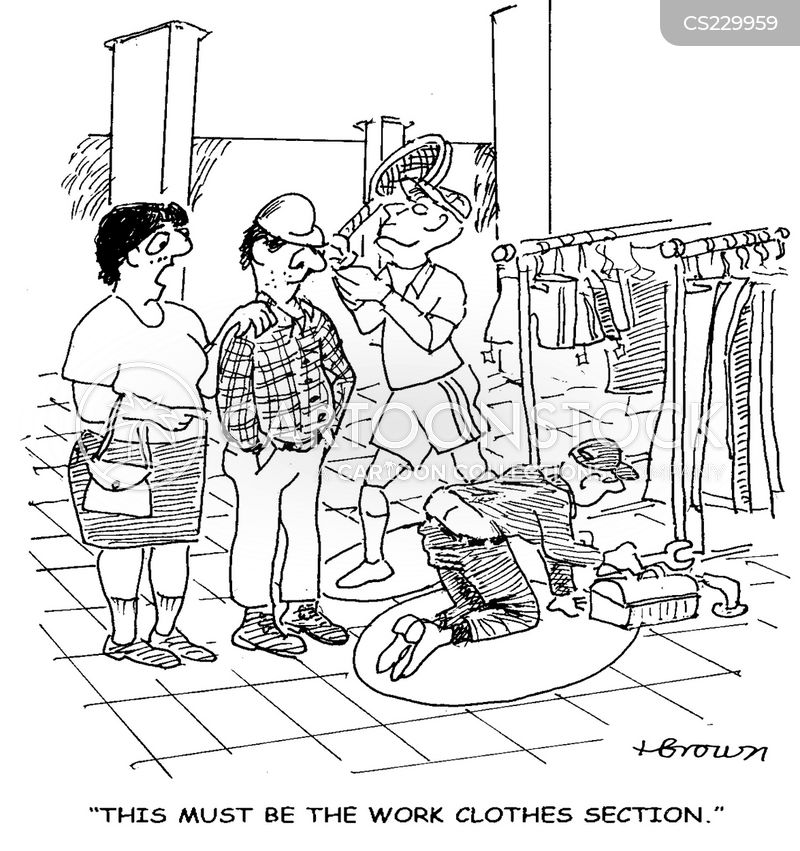 Girls clothing stores. Work clothes store